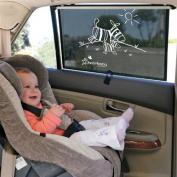 Dreambaby Extra-Wide Adjustable Car Shade Zebras