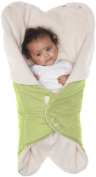 Wallaboo Baby Blanket Nore, 85 x 85 cm (Durable Faux Suede with Warm and Soft Shearling Inner) - Lime Green