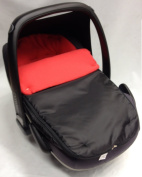 Universal Car Seat Footmuff To Fit Maxi Cosi Pebble Red