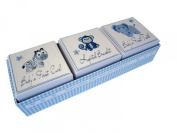White Cotton Cards 3-in-1 Baby's First Tooth/ Curl/ Hospital Bracelet Box