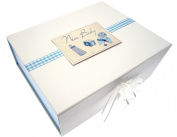 White Cotton Cards Baby A4 Keepsake Box