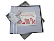 White Cotton Cards Christening Toys Range Guest Book