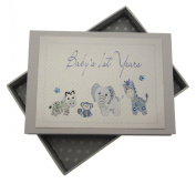 White Cotton Cards Handmade Baby's 1st Years Tiny Photo Album