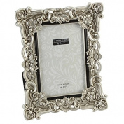 Floral Antique Silver Photo Frame 8 x 10