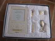 4PC SILVER PLATED CHRISTENING SET