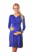 Long Sleeve Maternity Vneck Dress Pregnancy Top Tunic 4419 Variety of Colours