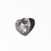 April birthstone heart - 5mm floating charm will fit Living memory lockets and Origami Owl style lockets