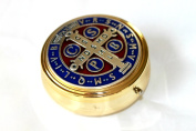 St SAINT BENEDICT PYX Rosary Box Communion Hospital Hosts Catholic