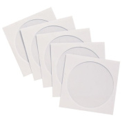 Vision Media - 100 Paper Wallets - With Window and Flap for DVD/CD