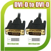 Premium High Quality Performance 3M Gold Plated DVI-D 24+1 25 Pin Dual Link Male to DVI-D 24+1 Male Cable Lead 3 M Metre Metre Digital TFT PC Digital CRT Display Desktop Monitor HDTV Plasma Projector HDTV Playstation 3 PS3
