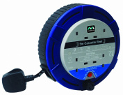 Masterplug SCT0510/4BL 5m 4 Socket 10 Amp Small Cassette Reel with Thermal Cut Out and Reset Button