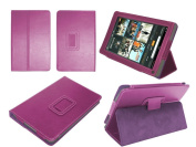 Navitech Genuine Purple Napa Leather Flip Open 18cm Case / Cover With Stand for the Kindle Fire 18cm Amazon Tablet Android 3.2 PLEASE NOTE