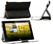 Navitech Multi Stand Black Bycast Leather Case For The Acer Iconia Tab A210/ A211