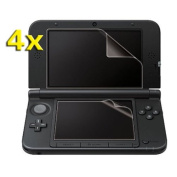 TOOGOO(R) 4x Clear Top Bottom Screen Protector LCD Film Guard Cover for Nintendo 3DS LL XL