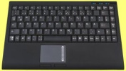 Mini keyboard, Black, USB with built in Touchpad