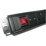 Dynamode 12-Way High Density Vertical 13A Switched PDU/Power Bar w/Surge Protection