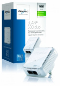 Devolo dLAN 500 Duo Add-On Powerline Adapter, Easy Ethernet Access Through your Powerline (500 Mbps, 2 LAN Ports, Small, Compact and Unobtrusive Design, Adapter, Ethernet) - White