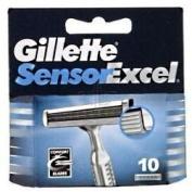 THREE PACKS of Gillette Sensor Excel Cartridges x 10