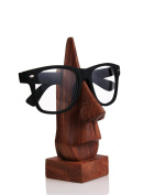 Nose Shaped Wooden Spectacles Eyeglass Holder Stand Birthday