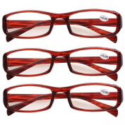 Southern Seas 3 Pairs (Tortoise) Womens Mens Durable Unisex Reading Glasses Spectacles Strength +3.00