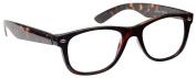 Reading Glasses +3.00 Strength Mens Womens Unisex Wayfarer Style Brown Tortoiseshell UV Reader UVR007 Inc Case