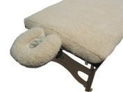 Massage Table FLEECE PAD AND FACE CRADLE COVER SET