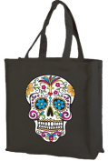 Sugar Skull cotton shopping bag, Darkside Collection black