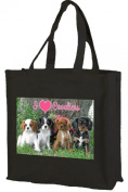 Cavalier King Charles Spaniel - Cotton Shopping Bag, Black
