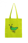 Slimy SLUG cotton Tote bag. LIME. Recycle!