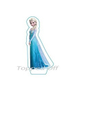 """1 pre-cut 5.8"""" (14.73 cm) tall Elsa from Frozen stand up edible cake topper decoration by Topped Off"""