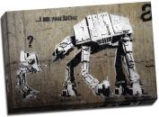 Banksy I Am Your Father Canvas Art Print Graffiti 80cm x 50cm A1