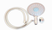 1.5m Shower hose & Large 145mm Shower Head Rain, Jet, Spray, Free Wall Holder Triton Mira Aqualisa Grohe Compatible