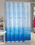 Beautiful extra Wide and Long shower curtain 100% polyester Waterproof with rings