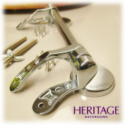 Heritage Replacement Wooden WC Seat Bar Hinge Set only in Chrome
