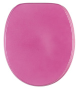 Toilet Seat   High-Quality surface   Stable Hinges   Easy to mount   Glittering Pink