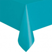 Unique Caribbean Teal Plastic Table Cover