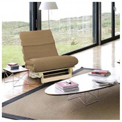 Sand 1 Seater Complete Futon, Single Wooden Futon Base with Luxury Mattress