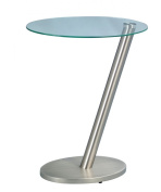 HomeTrends4You 528388 Side Table 40 x 48 x 30 cm Stainless Steel Effect Metal