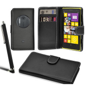 Nokia Lumia 1020 Stylish Wallet Case Leather Flip Cover + Screen Protector + Stylus