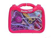 Childs Role Play Doctor Nurses Toy Medical Set Kit Pink Case