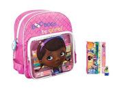 Disney Doc Mcstuffin Filled Backpack withstationery
