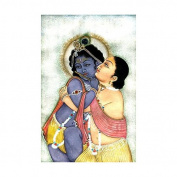 Krishna Balarama - Watercolour On Paper