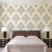 J BOUTIQUE STENCILS Wall Damask Stencil Balifico for DIY Wall Decor and Wallpaper Look