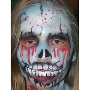 Zombie facepainting professional airbrush stencil
