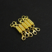 Ximico 5pcs Gold Colour Tone Magnetic Lobster Clasp for Jewellery Necklace Bracelet/lobster Clasp with a Magnetic Latch to Make Most Jewellery Clasps Connect Effortlessly