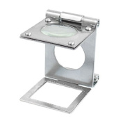 Water & Wood Silver Tone Metal Folding Magnifier Magnifying Glass Jewellery Loupes 10X
