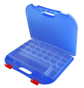 Dexas Rainbow Loom Storage Lap Case, Blue/Red