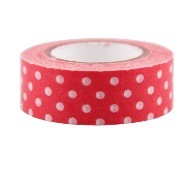 Red Dot Japanese Washi Tape - *15mm x 15M* - TWILIGHT PARTIES