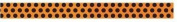 2012 Halloween Ribbon Spool - Orange/black Dots