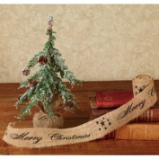 "The Country House Collection Black ""Merry Christmas"" Ribbon, 5.1cm x 3m"